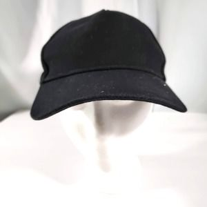 Solid Black Baseball Cap by Forever 21 adjustable